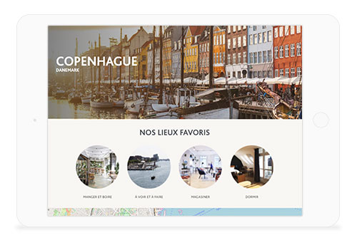 advertising inflight guide touristique